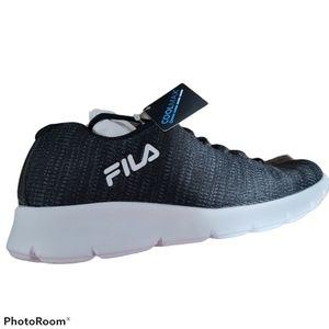 Fila Memory Foam Platonic Black Running Shoe 9.5